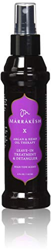 - Marrakesh Marrakesh X High Tide Leave-In Treatment and Detangler with Hemp and Argan Oils, 4 Ounce