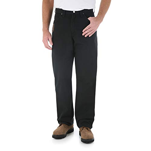 Wrangler Men's Riggs Workwear Carpenter Jean, Black, 36x30 ()