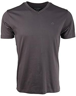 V-Neck Modern Fit Luxury Cotton T-Shirt