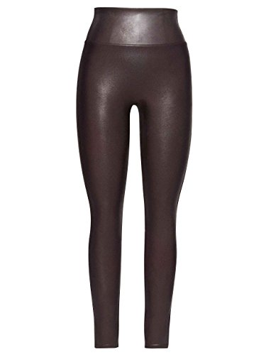 Spanx Womens Faux Leather Legging, Wine, S