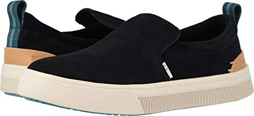 (TOMS Women's TRVL LITE Slip-On Black Suede 8 B US)