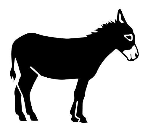 Donkey Mule Silhouette Vinyl Decal Sticker - Sticker Donkey