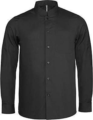 Camisa Cuello Mao Manga Larga Hombre - Black, 3XL, Hombre: Amazon.es: Deportes y aire libre