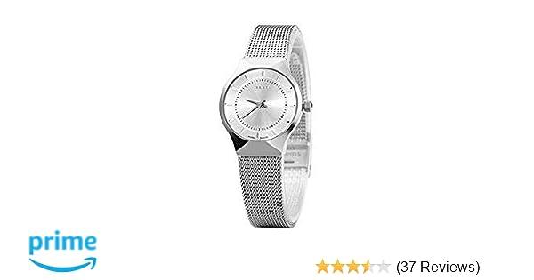 1621b52d2ef JULIUS Women s White Dial Mesh Stainless Ultra Thin Stylish Quartz Watch  Fashion Elegant Wristwatch