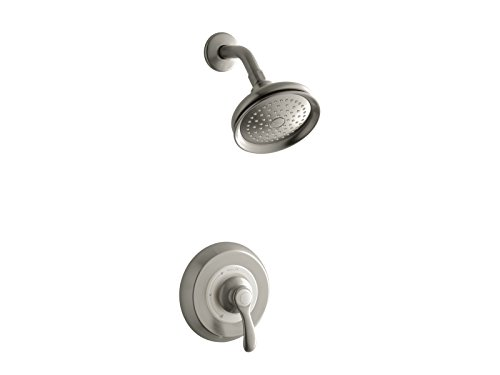 Kohler TS12014-4E-BN K-TS12014-4E-BN Fairfax Rite-Temp Shower Valve Trim with Lever Handle and 2.0 gpm showerhead Vibrant Brushed Nickel