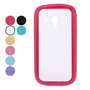 JJE Transparent Dull Polish Hard Case for Samsung Galaxy S3 mini I8190 (Assorted Colors) , Purple
