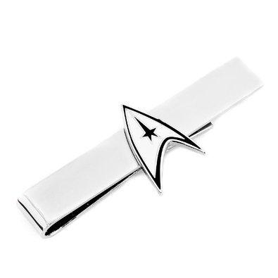 Licensed Tie - Officially Licensed Star Trek Tie Bar Starfleet communicator badge worn by Captain Kirk
