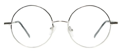 amazoncom metal full rim round eyeglasses frame large size black brown gold gunmetal grey or silver silver clothing