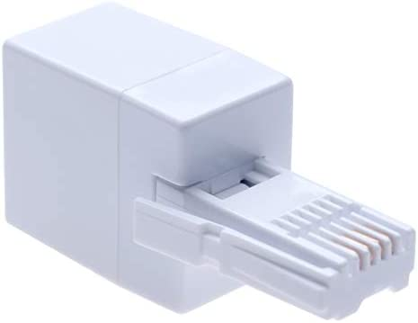 NA 2 Pieces BT RJ11 6P4C United Kingdom Phone Adapter with Female to Female Connector