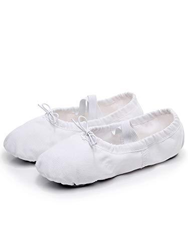 Split De Filles Plat Et Tookang Femmes Avec Pour Classique Ballet Chaussures Danse Semelle Ballerina Chaussures Blanc Pantoufles fZPwq4x7B