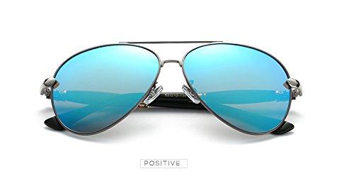 la Del Pynxn para de los Azul AT041 polarizadas Gris Vendimia Luxury de Accesorios de Negro Espejo de vidrios Hombres Gafas Gafas Gris Sol de Aviaci¨®n Hielo los Hombres Sun Arma zxraFqzw