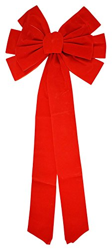 Set of 324 Christmas Red Velvet Bows 26'' Long 10'' Wide 10 Loop Holiday / Christmas Bow! by Black Duck Brand