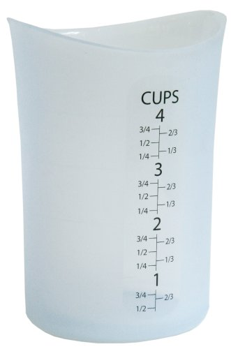 isi 4 Cup Flexible Silicone Measuring Cup - Highly Ranked and Recommended by Cooks and Bakers ()
