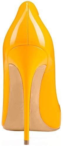 Scarpe Scivolare Calzature Su Donna Spillo Vaneel A Giallo Tacco Cahen 12cm Col ZvWvqOR