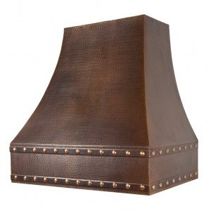 Premier Copper Products HV-CORREA36-C2036BP-B 625 CFM Hand Hammered Copper Wall Mounted Correa Range Hood - Baffle Filters