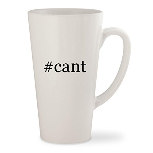 #cant - White Hashtag 17oz Ceramic Latte Mug Cup (White Cant Ray Man Blu Jump)