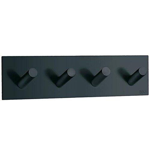 - Beslagsboden Quadruple Wall Mounted Hook Finish: Black Matte Stainless Steel