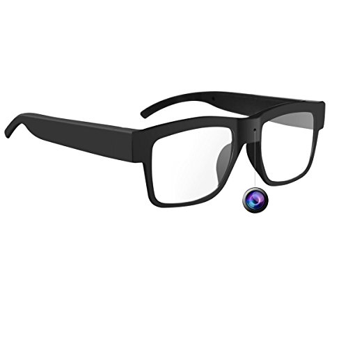 HD 1080P Camera Glasses with Video Loop Video Recorder Glasses Eyeglasses with 8GB SD Card ()