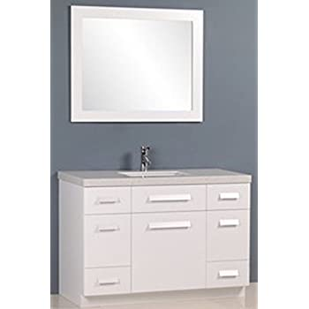 Design Element Moscony Single Sink Vanity Set with White Finish, 48 ...