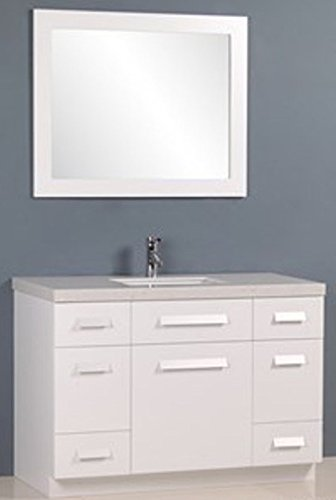 Design Element Moscony Single Sink Vanity Set with White Finish, 48-Inch by Design Element (Image #1)