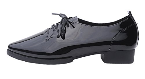 Lesrance Women's Ladies British Pointed-toe Lace-up Oxfords Shoe Color Black Size 7.5