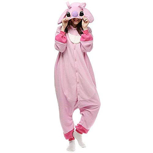 Unisex-Adult Onesie Stitch Pajamas Christmas Party Cosplay Animal Costumes -