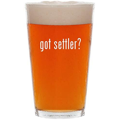 got settler? - 16oz Pint Beer Glass -