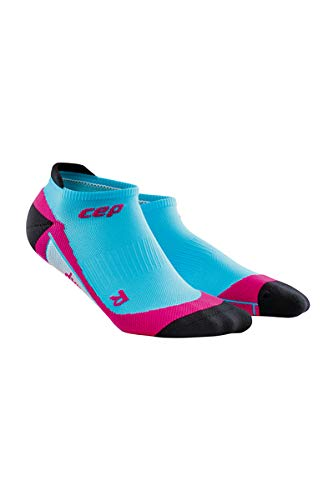 CEP Women's Dynamic+ No-Show Socks with Compression,Hawaii Blue/Pink, 2