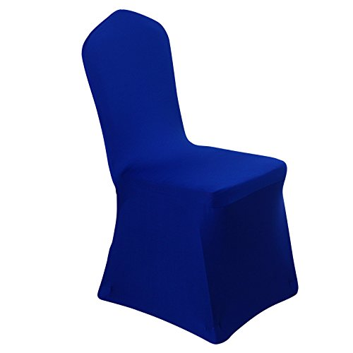 Merveilleux Spandex Dining Chair Cover Covers For Wedding Banquet (Royal Blue)
