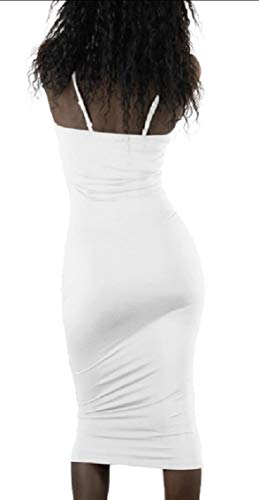 Jaycargogo Mode Sexy Sangle Spaghetti Club Bodycon Partie Mini-robe De La Femme Blanche