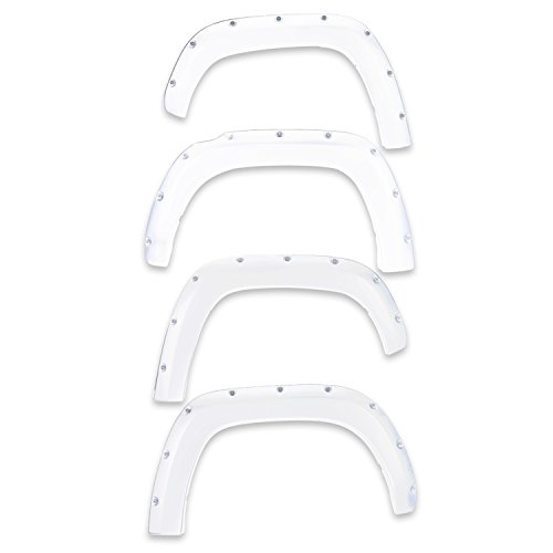 EGR 791574-GAZ Bolt-On Look Paint Match Fender Flare Set of 4 No-Drill Front And Rear Olympic White Bolt-On Look Paint Match Fender Flare Set of 4