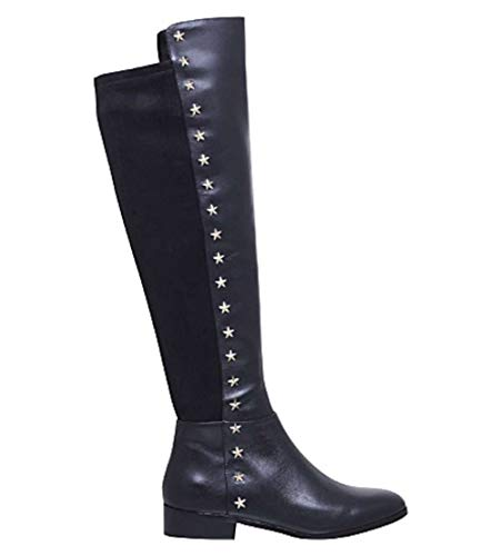- Michael Kors Womens Bromley Leather Closed Toe Knee High Riding, Black, Size 7.5