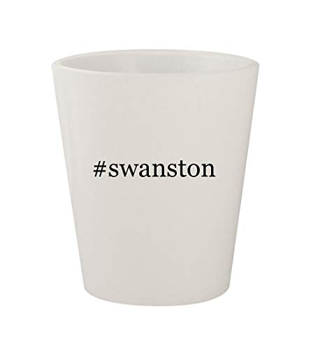 #swanston - Ceramic White Hashtag 1.5oz Shot Glass