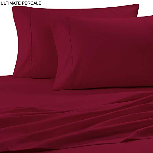 Ultimate Percale 400 Thread Count 100% Cotton Pillow Case Set,2 Piece Set,Bestselling Standard Pillowcases Percale Weave,Classic Z-Hem,Super Soft Finish,Crisp and Cool Pillowcase,Fuschia (Cases Pillow Fuschia)