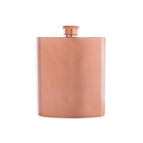 Hip Design Flask (W&P MAS-FLASK Copper Pocket Hip Flask, Leakproof, Stainless Steel, Travel Flask, 7 Ounce)