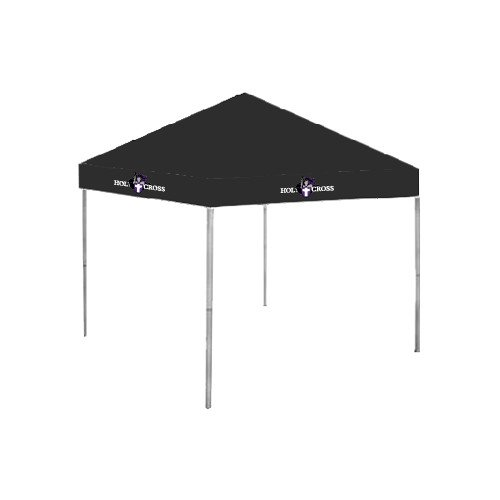 Holy Cross 9 ft x 9 ft Black Tent 'Official Logo' by CollegeFanGear