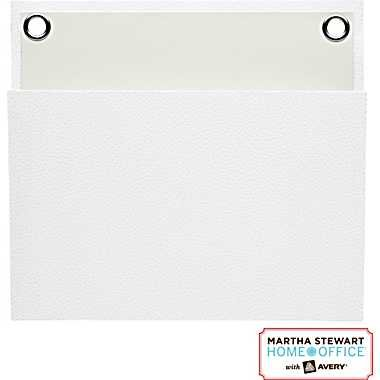 """Martha Stewart Home Office with Avery Small Shagreen Pocket, White, 8"""" x 7-1/4"""""""