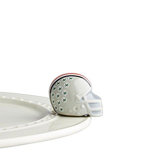 Nora Fleming Hand-Painted Mini: Ohio State Helmet (Ohio State University football helmet) A305