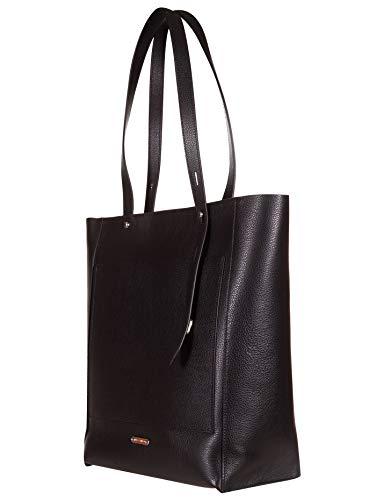 Rebecca Minkoff väska Stella Tote Pebble dam, två handtag, läder, svart, L 28 x A 36 x P13 cm