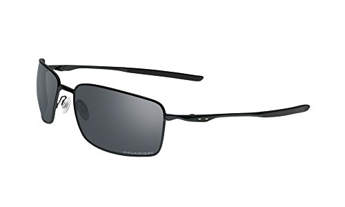 Oakley Square Wire Sunglasses Matte BLK / BLK Irid. Pol. & Cleaning Kit - Oakley Wires Square