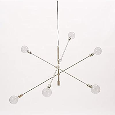 Mobile Chandelier 6-light Adjustable Arms Chrome Ceiling Light Pendant Lamp
