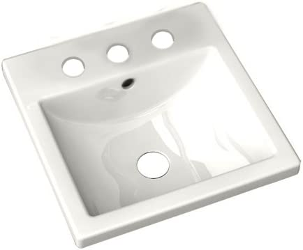 American Standard 642001.020 Studio Ceramic undermount Square Bathroom sink, 16.25 L x 16.25 W x 6.75 H, White