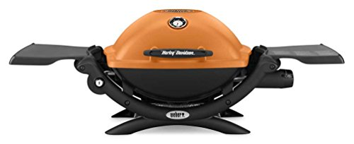 Harley-Davidson Weber Q1200 Bar & Shield Portable Outdoor Gas Grill WHDQ1200 by Harley-Davidson