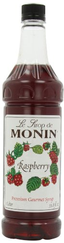 Monin Flavored Syrup, Raspberry, 33.8-Ounce Plastic Bottles (Pack of - Raspberry Tea Monin