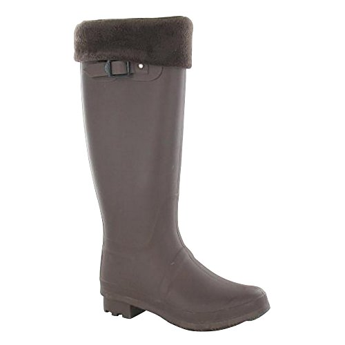 Navy Womens Ladies Spot Insock Plain On Wellies P07xgz