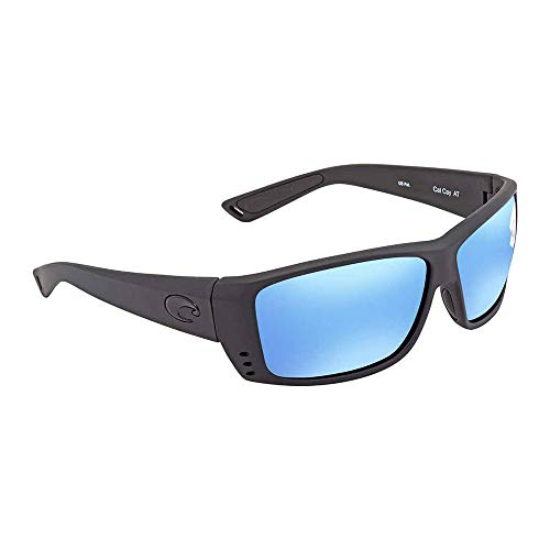 95064664144f Costa Del Mar Cat Cay Polarized Iridium Wrap Sunglasses, Blackout, 60.9 mm