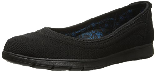 Flats Skimmers Shoes Black (BOBS from Skechers Women's Pureflex Skimmer Flat, Black/Black, 10 M US)