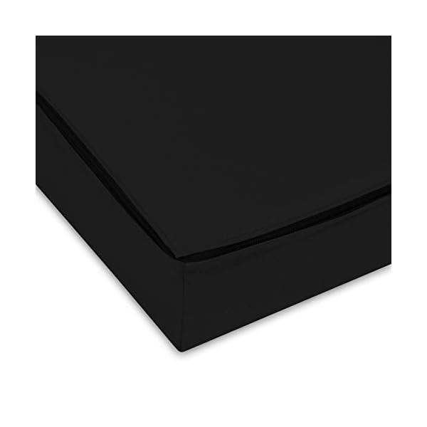 SuperKissen24. Matelas Coussin Dossier pour Palette Canapé Appui 120×40 – Intérieur/Extérieur – imperméable – Mousse – Noir