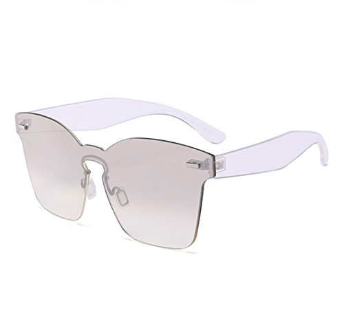 la sol polarizadas cuadradas Plateado clásica integrados Gafas vidrios de moda no de UV400 5IHxqwY