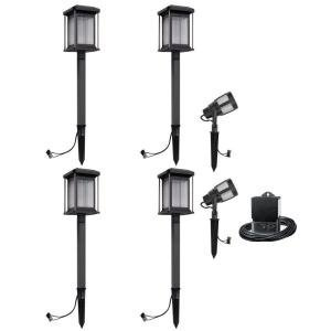Malibu Prominence 6 Pack LED Light Kit. These Landscape Lights are Best for Exterior and Outdoor Lighting. This Low Voltage Light Set is consist of 2 Floodlights and 4 Path Lights.